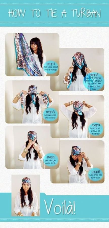 How to wear a scarf in your hair head wraps turbans 46+ Ideas