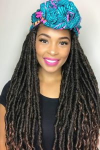 Locs and Scarf style_