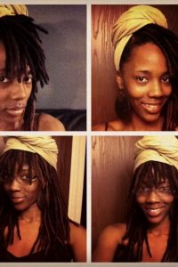 Locs and headwrap style